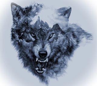 Обои на телефон волк, арт, art