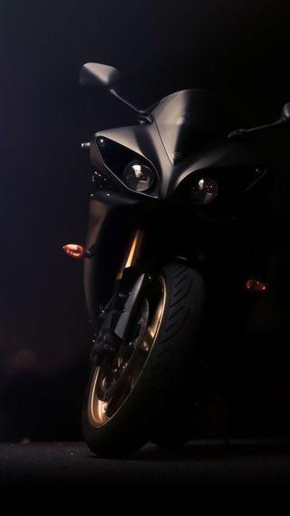 Обои на телефон ямаха, черные, мотоциклы, yamaha, r1