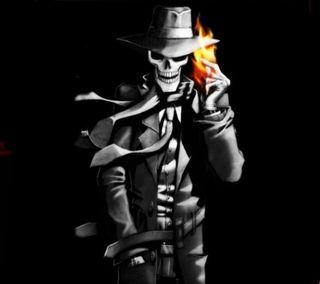 Обои на телефон жнец, череп, страшные, смерть, огонь