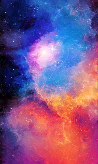 Обои на телефон туманность, солнце, радуга, огонь, облака, космос, звезды, галактика, galaxy