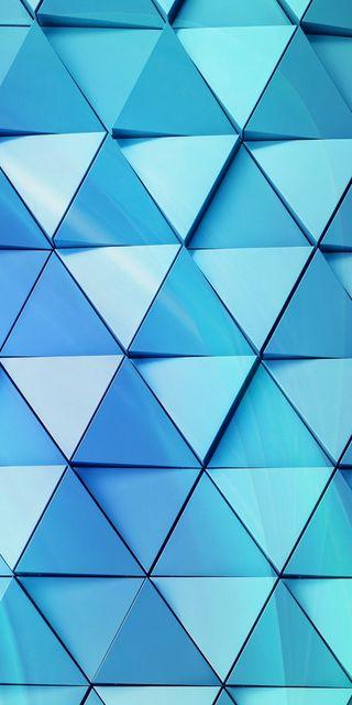 Обои на телефон треугольники, цифровое, фон, синие, геометрические, абстрактные, 3д, 3d