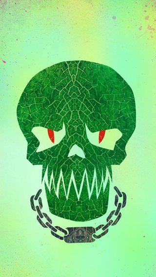 Обои на телефон череп, самоубийца, отряд, логотипы, комиксы, зеленые, dc, croc