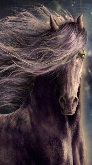 Обои на телефон фантазия, темные, лошадь