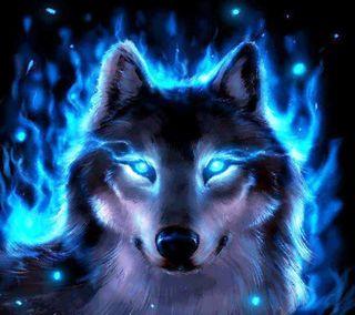 Обои на телефон пламя, огонь, лед, животные, волк, абстрактные