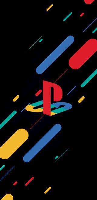 Обои на телефон цветные, новый, логотипы, красочные, playstation, double exposure