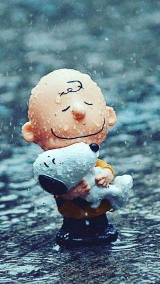 Обои на телефон снупи, весна, дождь, spring rain snoopy