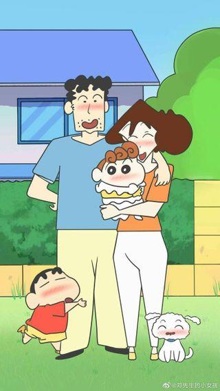 Обои на телефон семья, гарри, shiro, shinchan family, shinchan, mitsy, himmawari