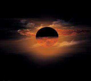 Обои на телефон пейзаж, луна, full moon landscape
