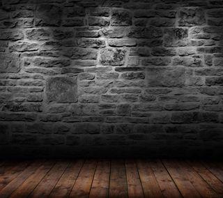 Обои на телефон кирпичи, темные, стена, абстрактные, hd, brick wallpaper