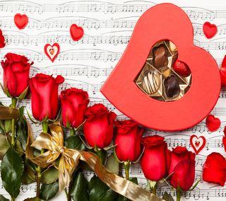 Обои на телефон валентинки, сердце, романтика, розы, день, валентинка