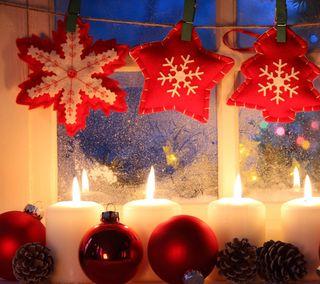 Обои на телефон украшения, свеча, рождество, праздник