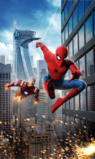Обои на телефон постер, паук, мстители, фильмы, марвел, возвращение домой, spider man homecoming, spider man, marvel