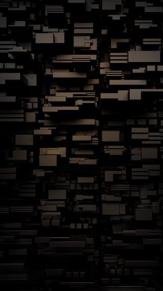 Обои на телефон черные, блоки, stacked