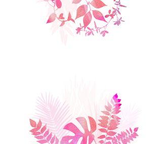 Обои на телефон джунгли, розовые, watercolour