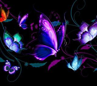 Обои на телефон abstract butterflies, абстрактные, приятные, взгляд, бабочки