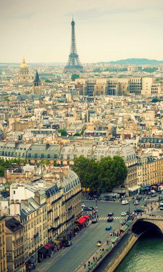 Обои на телефон франция, прекрасные, париж, город, горизонт, башня, skyline, panoramic