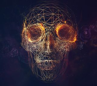 Обои на телефон геометрия, череп, линии, геометрические, абстрактные