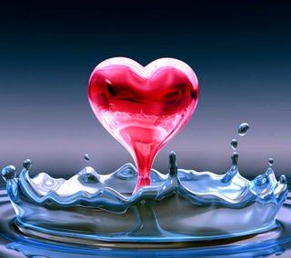 Обои на телефон эмоция, брызги, символ, сердце, любовь, капли, вода, арт, meaning, love, iconic, hd, drip, art