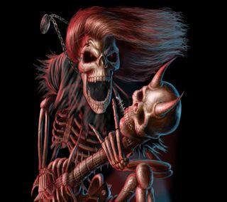 Обои на телефон тяжелый, скелет, металл, heavy metal skeleton