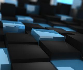 Обои на телефон цвет морской волны, черные, синие, куб, 3д, 3d