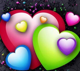 Обои на телефон цветные, сердце, любовь, день, 2160x1920px, love, colors hearts