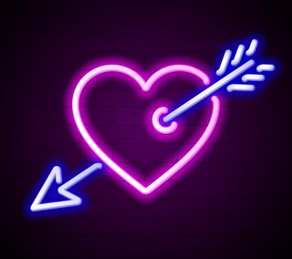 Обои на телефон стрела, цветные, фон, сердце, неоновые, любовь, абстрактные, love