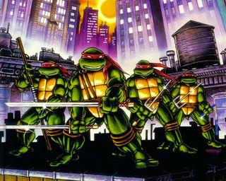 Обои на телефон черепашки ниндзя, черепахи, ниндзя, комиксы