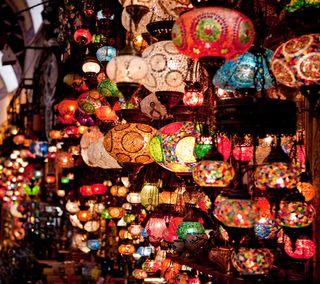 Обои на телефон фонарь, турецкие, свет, лампа, lanterns