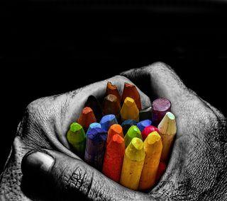 Обои на телефон удивительные, руки, красочные, дизайн, fantastiv, 2012