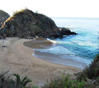 Обои на телефон пляж, мексика, playa zipolite, oaxaca