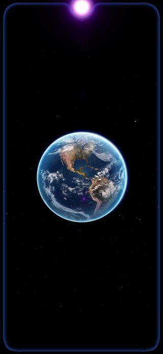 Обои на телефон космос, темные, планета, земля, граница, вселенная, амолед, siyah, mia3, hd, amoled