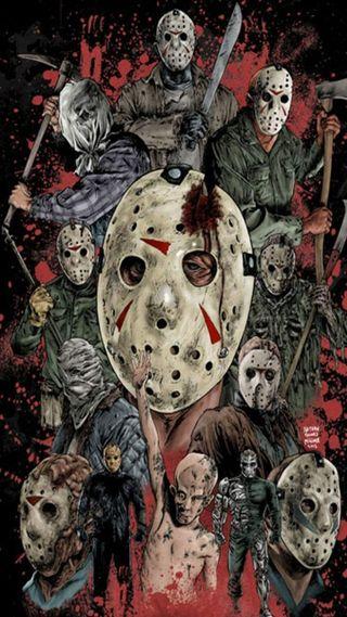 Обои на телефон halloweenwallpaper, хэллоуин, ужасы, страшные, джейсон