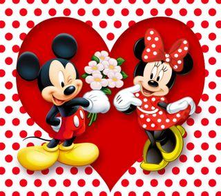 Обои на телефон точки, романтика, минни, микки, маус, любовь, polka dots, love