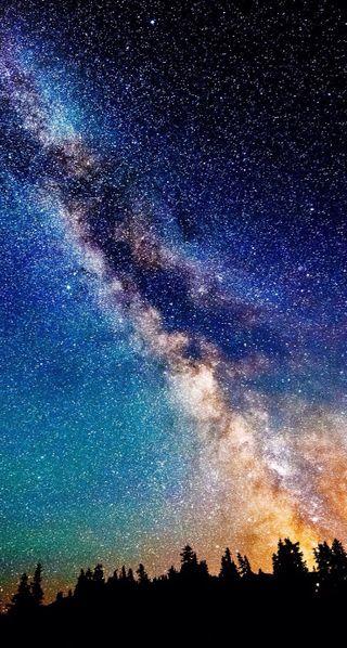 Обои на телефон ночь, небо, космос, звезды, галактика, вселенная, galaxy