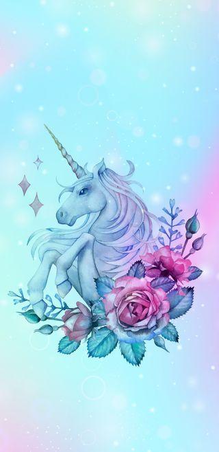 Обои на телефон пастельные, цветы, цветочные, симпатичные, единорог, девчачие, patel unicorn