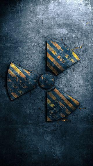 Обои на телефон опасные, серые, опасность, логотипы, radiation logo