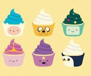 Обои на телефон торт, приключение, время, icening, cupcakes, adventure time cake