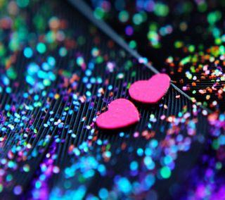 Обои на телефон блестящие, цветные, сердце, приятные, новый, красочные, hd