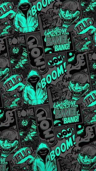 Обои на телефон черные, хоп, хип, тв, ночь, арт, late night, big bang, bang bang, art