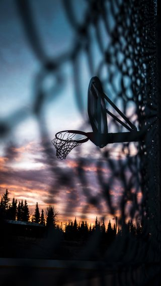 Обои на телефон сумерки, баскетбол, спортивные, нба, zedgebball18, nba, hoop at dusk
