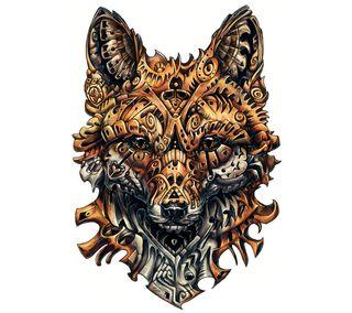Обои на телефон лиса, оранжевые, дикие, артистические, арт, fox artwork, carve