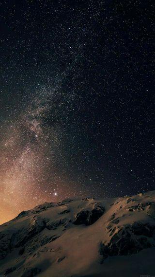 Обои на телефон звезды, черные, ночь, небо, горизонт, skyline