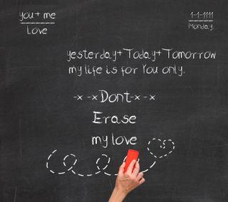 Обои на телефон сообщение, черные, цитата, романтика, любовь, доска, высказывания, love