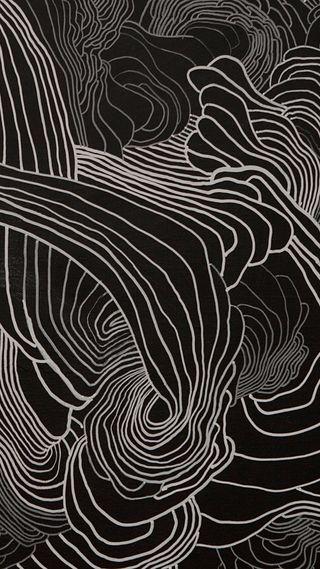 Обои на телефон рисунки, линии, арт, абстрактные, organism, bnw, art