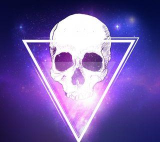 Обои на телефон треугольник, череп
