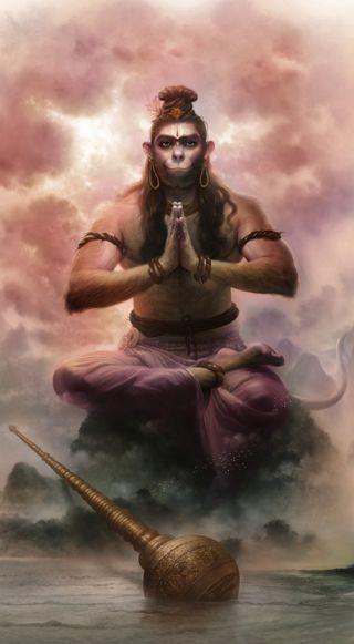 Обои на телефон хануман, индийские, бог