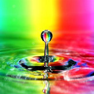 Обои на телефон брызги, радуга, красочные, капли, вода