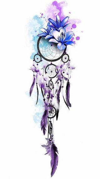 Обои на телефон цветы, фиолетовые, синие, перо, мечта, лилии, белые, blue lilies