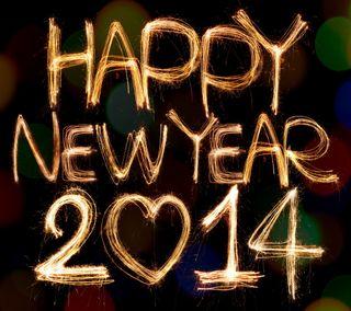Обои на телефон год, счастливые, новый, золотые, sparklers, happy, 2014