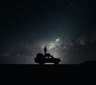 Обои на телефон чудо, взгляд, темные, природа, ночь, звезды, живописные, вид, вечер, gaze
